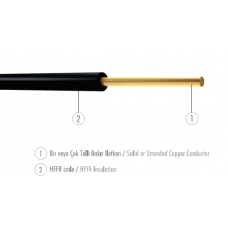 Elektrik kabel Ünal Kablo H07Z1-K 1X1.5 mm² (YANMAZ) (100m)- Türkiyə