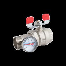 """Termometirli amerikankalı su ventil, 1"""" (25 mm), PN25, KAS- Türkiyə"""