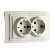 Elektrik yuvası N2, dərin-torpaqlamalı, divar içi, model: Larissa, Mono Electric- Türkiyə
